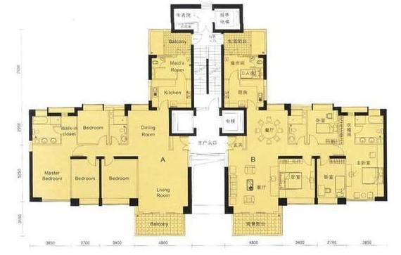这种户型是集合了塔楼和板楼的优势:从户型图