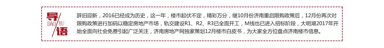 12月济南政策,12月济南成交,12月预售,济南城建
