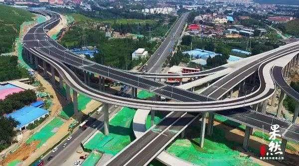 济南最高立交桥马上竣工!35米,5层互通!